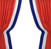 blue czerwonym white Obraz Royalty Free