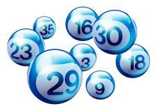 Vector Bingo Lottery Number Balls. Blue 3D Bingo Lottery Number Balls Isolated on White Background Stock Photography