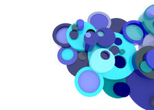 Blue 3D circle elements element in abstract style. On white background vector illustration