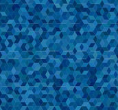 Blue 3d cube mosaic pattern background Stock Photography