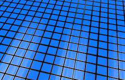 Blue 3D Cubes Background Stock Photos