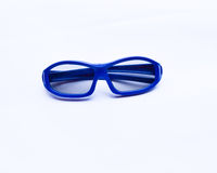 Blue 3D glasses for baby  Royalty Free Stock Images