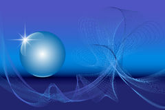 Blue 3D globe sphere on an abstract technology blue background. Vector illustration EPS10 royalty free illustration