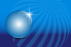 Blue 3D globe sphere on an abstract technology blue background. Vector illustration EPS10 Royalty Free Stock Photos