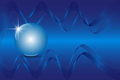 Blue 3D globe sphere on an abstract technology blue background. Vector illustration EPS10 Stock Photo