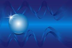 Blue 3D globe sphere on an abstract technology blue background. Vector illustration EPS10 vector illustration