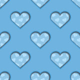 Blue 3d Hearts Seamless Background Royalty Free Stock Image