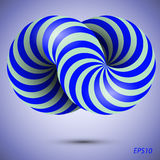 Blue 3d infinity symbol. Conceptual icon. Logo template. Vector illustration Stock Photo