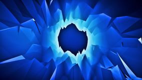 Blue 3D Low Poly Crystal Cave Tunnel Loopable Motion Background. Colored Blue 3D Low Poly Crystal Cave Tunnel Loopable Motion Background Backdrop stock video