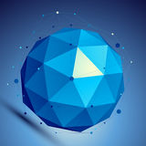 Blue 3D modern perspective abstract background, origami facet sp Royalty Free Stock Photography