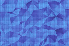 Blue 3D Polygonal Surface. This is 3d render of surface made of blue tinted polygons Stock Photography