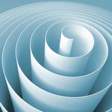 Blue 3d spiral, square abstract digital illustration. Background pattern Royalty Free Illustration