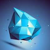 Blue 3D vector abstract design template, colorful Royalty Free Stock Images