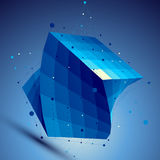 Blue 3D vector abstract technology illustration Royalty Free Stock Photo