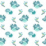 Blue Daisies on White Seamless Pattern Royalty Free Stock Photography