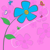 Blue Daisy Card Royalty Free Stock Photo