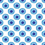 Blue Daisy floral seamless patern background Royalty Free Stock Images