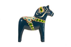 The blue Dala Horse Royalty Free Stock Photography