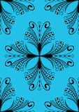 Blue and black seamless damask stock photography