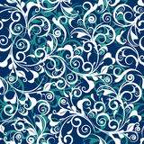 Blue damask. Blue old-fashionable revival  texture Stock Image