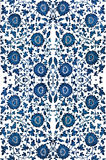Blue Damask Royalty Free Stock Photography
