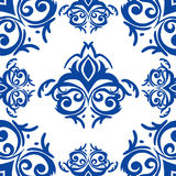 Blue damask background Stock Images