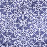 Blue damask paper Royalty Free Stock Photos