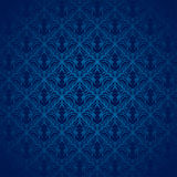 Blue Damask Pattern royalty free stock images