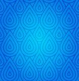Blue Damask Seamless Pattern stock image