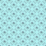 Blue Damask Seamless Wallpaper Royalty Free Stock Photography