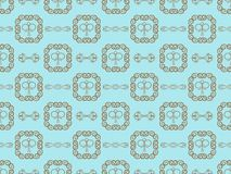 Blue damask seamless wallpaper Royalty Free Stock Image