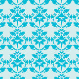 Blue damask wallpaper Royalty Free Stock Photos
