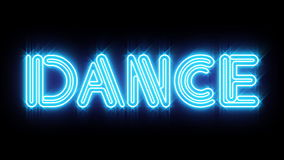 Blue DANCE Neon sign