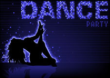 Blue Dance Party Background Royalty Free Stock Photography