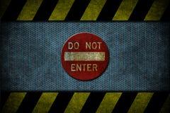 Blue danger Stock Image