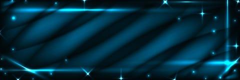 Blue dark banner Stock Image