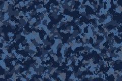Blue dark camouflage pattern blackground stock illustration