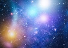 Stars, dust and gas nebula in a far galaxy. Stock Photography