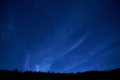 Blue dark night sky with stars. Royalty Free Stock Photos
