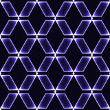 Blue dark seamless background with shinning gems. Blue / violet dark seamless background with shinning glass diamonds / gems / stones / crystals in regular grid vector illustration