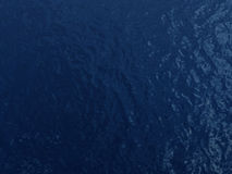 Blue dark water surface. Blue dark calm water surface in dark environment Royalty Free Stock Image