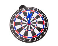 Blue dart on center dartboard in success concept Stock Photography