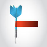 Blue dart and red blank sign illustration design Royalty Free Stock Photo
