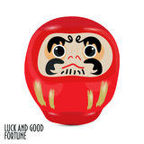 Blue Daruma doll or dharma doll vector illustration. Stock Photo