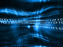 Blue data code abstract backdrop Stock Images