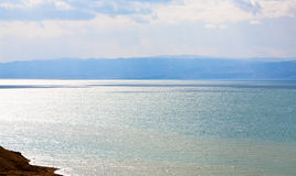 Blue dawn on Dead Sea coast Royalty Free Stock Image