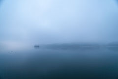 Blue Dawn of the Han River, Korea. Blue Dawn, Island of the Han River in Yangpyeong, Republic of Korea Stock Images