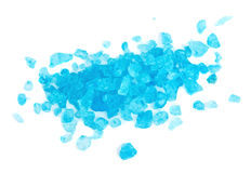 Blue dead sea salt heap Royalty Free Stock Photos