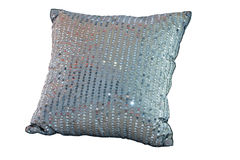 Blue decor pillow Stock Image