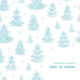 Blue decorated Christmas trees silhouettes textile Royalty Free Stock Images